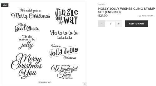 Unfrogettable Stamping | Holly Jolly Wishes stamp set from Stampin' Up!