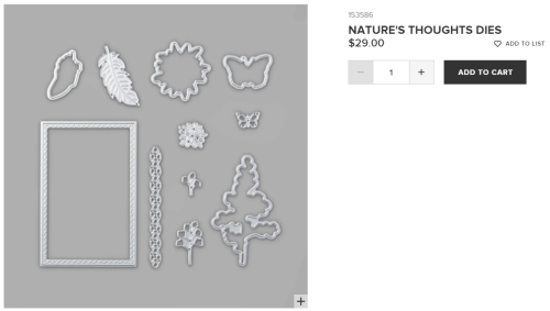 Unfrogettable Stamping - Natures Thoughts dies from Stampin' Up!