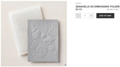 Unfrogettable Stamping | Seashells 3D Embossing Folder from Stampin' Up!