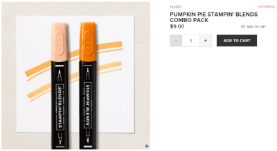 Unfrogettable Stamping | Pumpkin Pie Stampin' Blends combo pack from Stampin' Up!