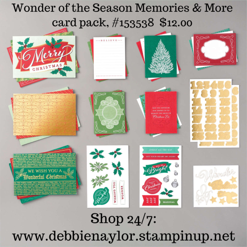 Unfrogettable Stamping | Wonder of the Season Memories & More card pack from Stampin' Up!
