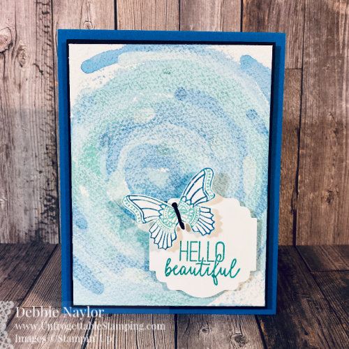 Unfrogettable Stamping | Fabulous Friday card featuring the Scrape Painting technique and products used include the Butterfly Gala stamp set with coordinating Butterfly Duet punch from Stampin' Up!