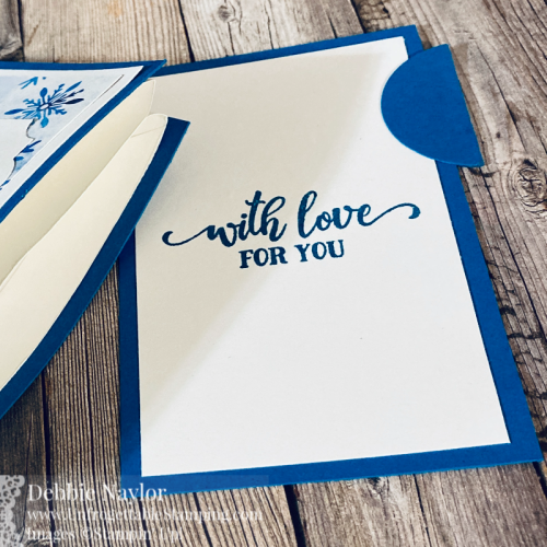 Unfrogettable Stamping   Countdown to Christmas 2020 Gift Card Holder featuring the Snowflake Splendor DSP and Tag Buffet stamp set from Stampin' Up!