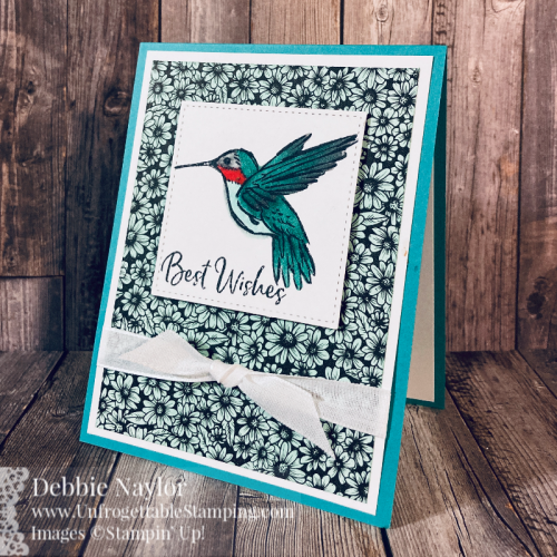 Unfrogettable Stamping | January 2021 Stampers Dozen Blog Hop card set featuring the Sale-a-Bration stamp set A Touch of Ink and new Spring Catalog product True Love DSP from Stampin' Up!