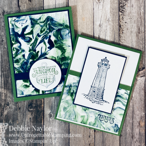 "Unfrogettable Stamping | Sunday Fun Day Shaving Cream technique card set featuring the Sailing Home stamp set, Label Me Lovely and 2"" circle punch from Stampin' Up!"