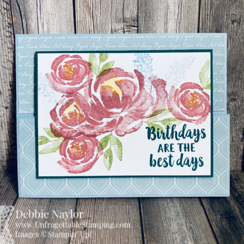 Unfrogettable Stamping | Sunday Fun Day Pinterest-Inspired birthday card featuring the Dutch Door fold and the Beautiful Friendship stamp set from Stampin' Up!