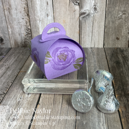 Unfrogettable Stamping | March 2021 Stampers Dozen Blog Hop Birthday Chocolate Favor featuring the Mini Curvy Keepsakes Box dies from Stampin' Up!