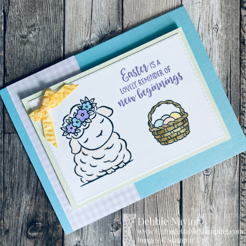 Unfrogettable Stamping | Sunday Fun Day Easter card featuring the Springtime Joy stamp set from Stampin' Up!