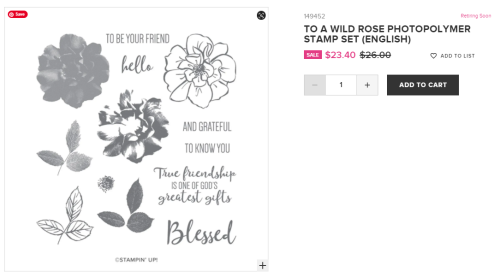 Unfrogettable Stamping | Retiring To a Wild Rose stamp set from Stampin' Up!