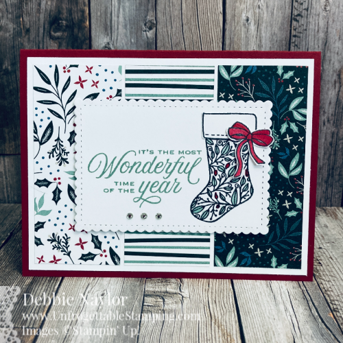 Unfrogettable Stamping | Sunday Fun Day Christmas card featuring the Tidings of Christmas product suite from Stampin' Up!card