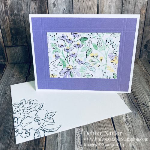Unfrogettable Stamping | June 2021 Stampers Dozen Blog Hop Gift Box and Card Set created using the Simply Scored Scoring Tool and Hand-Penned DSP, Hand-Penned Petals stamp set, Tailored Tag and Medium Daisy punches from Stampin' Up!