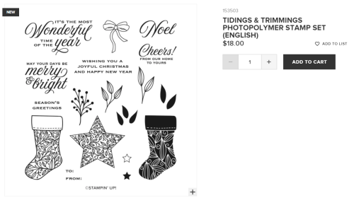 Unfrogettable Stamping | Tidings and Trimmings photopolymer stamp set from Stampin' Up!