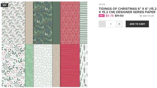 Sale - Tidings of Christmas DSP