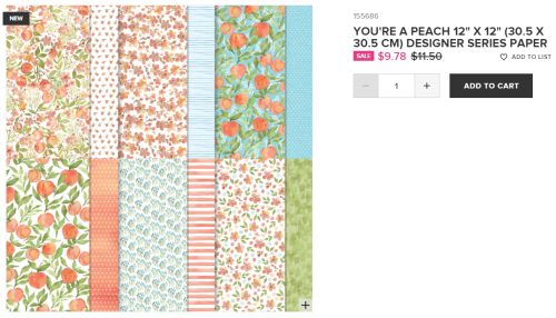 Unfrogettable Stamping | You're a Peach DSP from Stampin' Up!