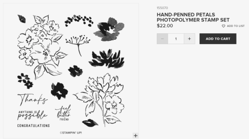 Hand-Penned Petals stamp set