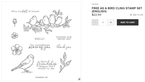 Unfrogettable Stamping | Free as a Bird stamp set from Stampin' Up!