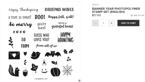 Unfrogettable Stamping | Banner Year stamp set from Stampin' Up!