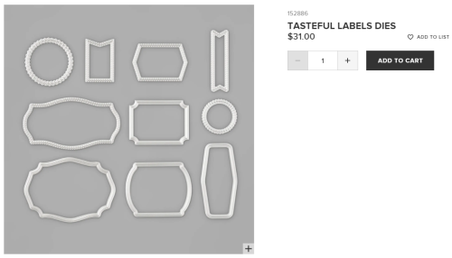 Unfrogettable Stamping | Tasteful Labels Dies by Stampin' Up!