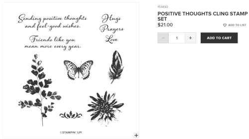 Positive Thoughts stamp set from Stampin' Up!