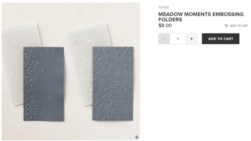 Unfrogettable Stamping - Meadow Moments embossing folders from Stampin' Up!