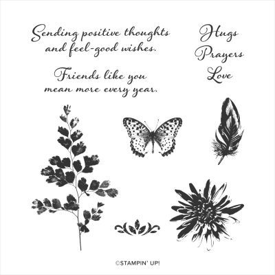Unfrogettable Stamping | Positive Thoughts cling stamp set from Stampin' Up!
