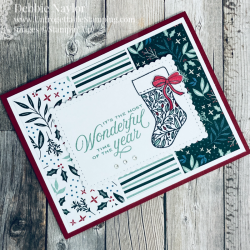 Unfrogettable Stamping | Sunday Fun Day Christmas card featuring the Tidings of Christmas product suite from Stampin' Up!