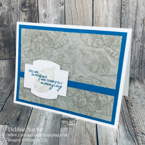 Unfrogettable Stamping | Sunday Fun Day masculine card featuring the Friends are like Seashells stamp set from Stampin' Up!