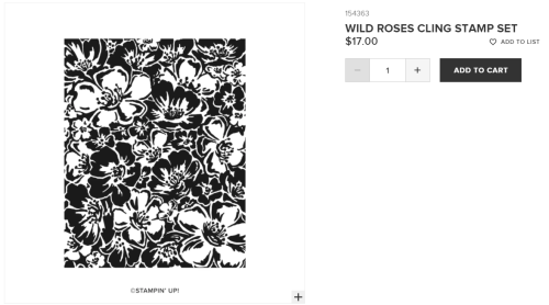 Unfrogettable Stamping | Wild Roses stamp set by Stampin' Up!