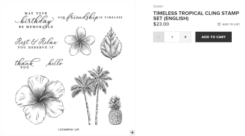 Unfrogettable Stamping | Timeless Tropical stamp set by Stampin' Up!