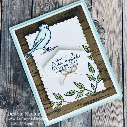 Unfrogettable Stamping | Sunday Fun Day nature card featuring the Free as a Bird and Birch stamp sets from Stampin' Up!