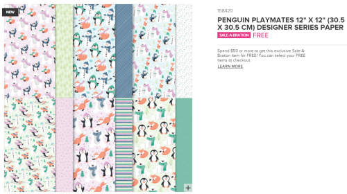 Unfrogettable Stamping | 2021 SAB Selection- Penguin Playmates DSP from Stampin' Up!