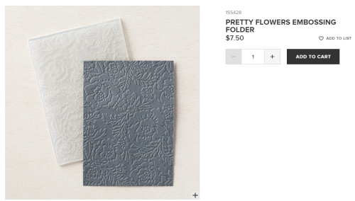 Unfrogettable Stamping | Pretty Flowers embossing folder from Stampin' Up!