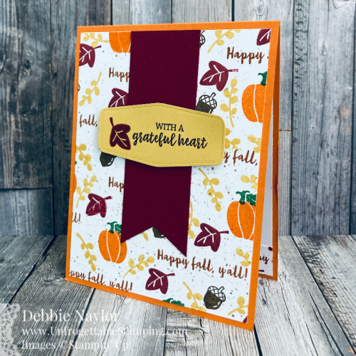Unfrogettable Stamping | Sunday Fun Day thank you card set featuring the Banner Year stamp set and Tasteful Labels dies from Stampin' Up!