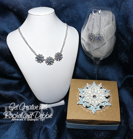Week 4 Blue Frosted Snowflake jewelry set