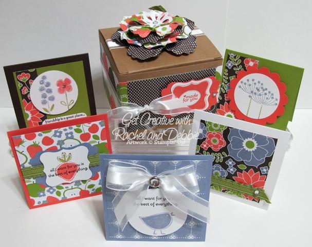2011 Week 3 Mini note card gift box set tutorial