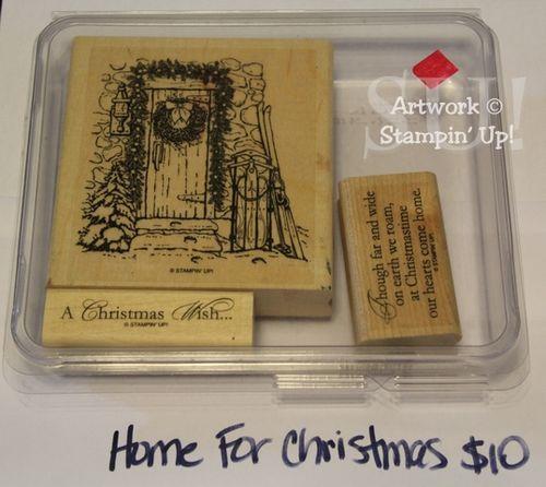 Home for Christmas stamp set, $10