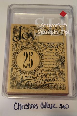 Christmas Collage stamp set, $10