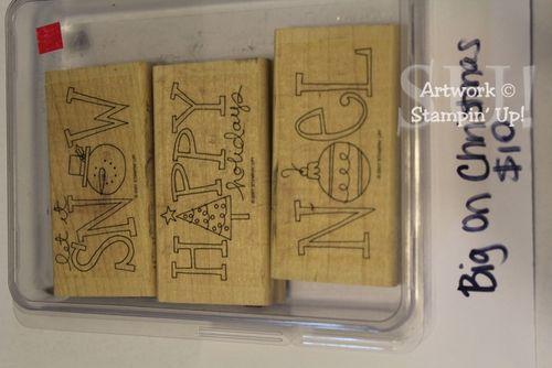 Big on Christmas stamp set, $10