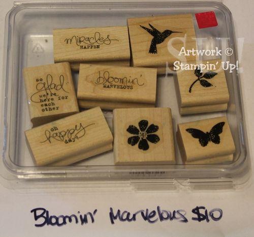 Bloomin' Marvelous stamp set, $10