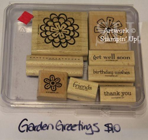 Garden Greetings stamp set, $10