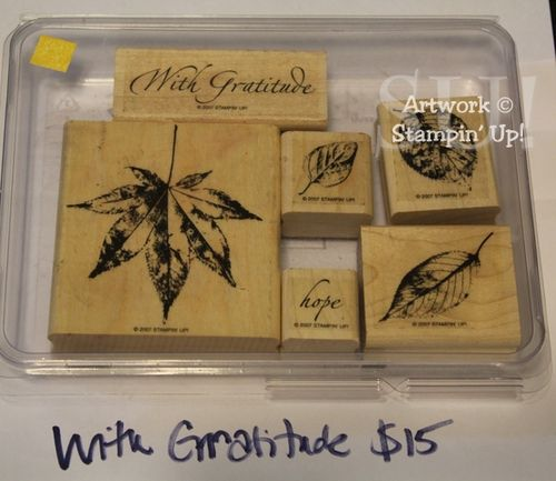 With Gratitude stamp set, $15