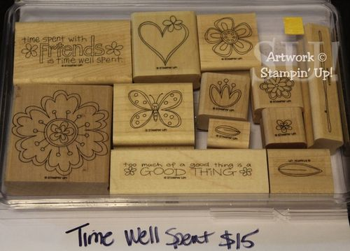 Time Well Spent stamp set, $15