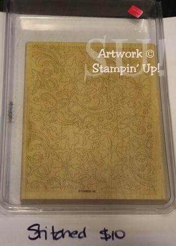 Stitched stamp set, $10
